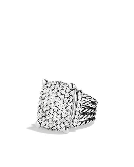 David Yurman   Metallic Wheaton Ring With Diamonds   Lyst