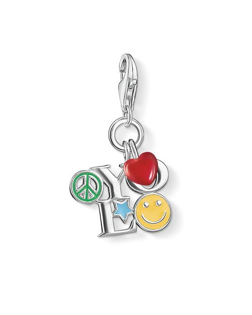 Thomas Sabo | Multicolor Charm Club Yolo Pendant | Lyst
