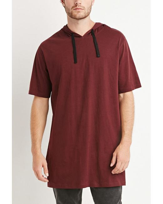 Forever 21 | Purple Hooded Longline Tee You've Been Added To The Waitlist for Men | Lyst