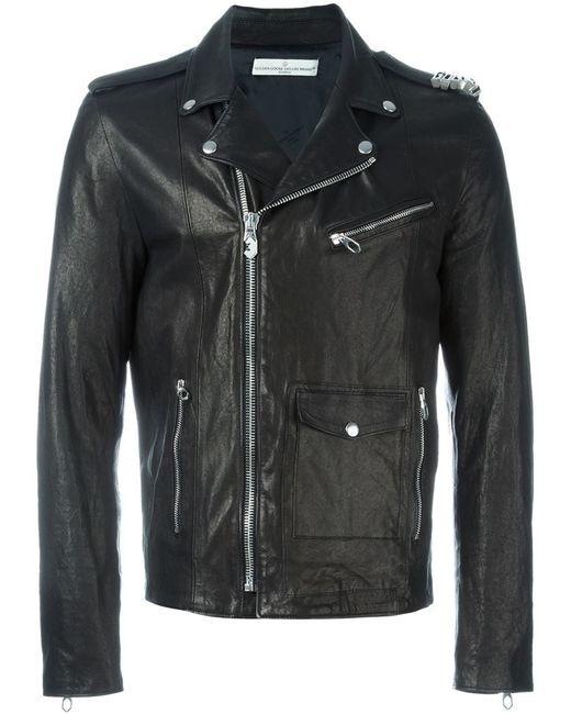 golden goose deluxe brand biker jacket in black for men lyst. Black Bedroom Furniture Sets. Home Design Ideas