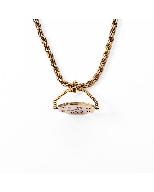 Lulu Frost | Metallic George Frost 'the World Is Yours' Revolving Necklace for Men | Lyst
