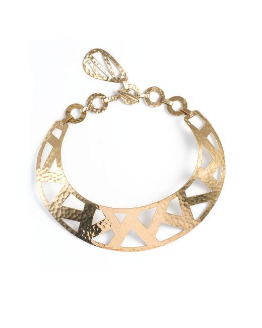 Natori | Metallic Geometric Gold Necklace | Lyst