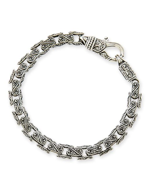 Konstantino | Metallic Men's Scroll Oval Link Bracelet for Men | Lyst