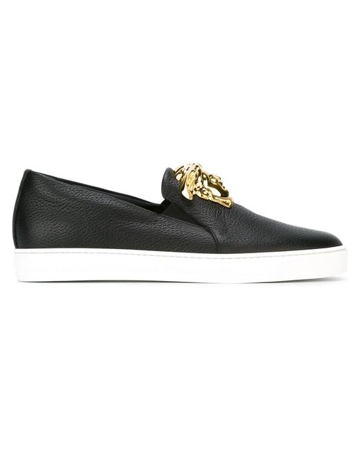 Versace Medusa Slip-On Sneakers in Black for Men | Lyst