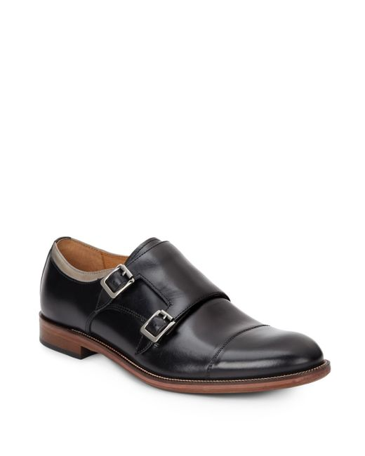 Johnston Amp Murphy Baynes Double Monk Strap Leather Loafers