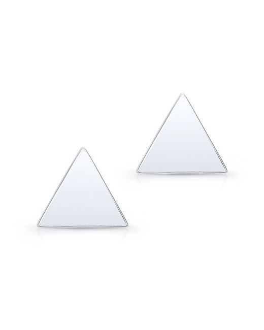 Anne Sisteron | 14kt White Gold Triangle Stud Earrings | Lyst