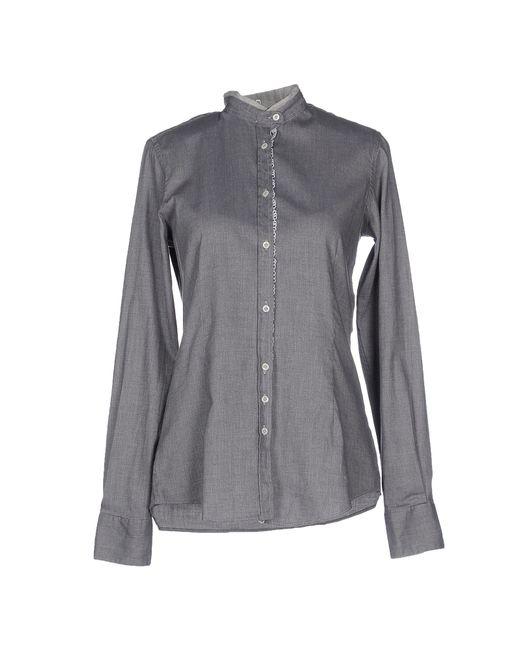 Aglini | Gray Shirt | Lyst