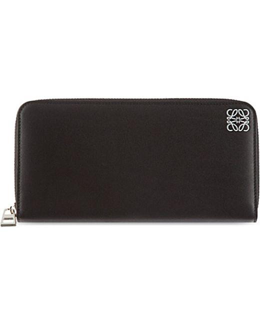 Loewe | Black Zip-around Leather Wallet | Lyst