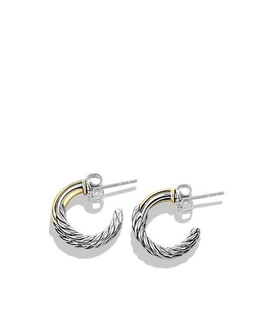 David Yurman | Metallic Labyrinth Single-loop Earrings With 18k Gold | Lyst