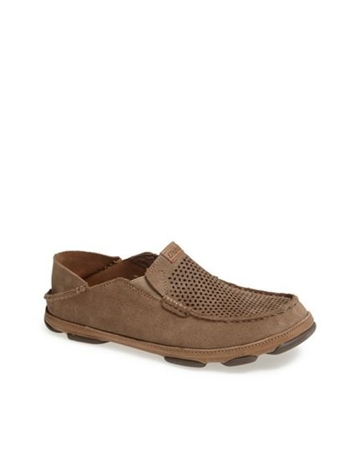 Olukai | Brown 'moloa Kohana' Slip-on for Men | Lyst