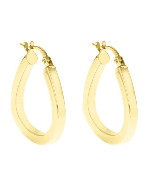 Ib&b | Metallic 9ct Yellow Gold Triangle Shaped Creole Earrings | Lyst