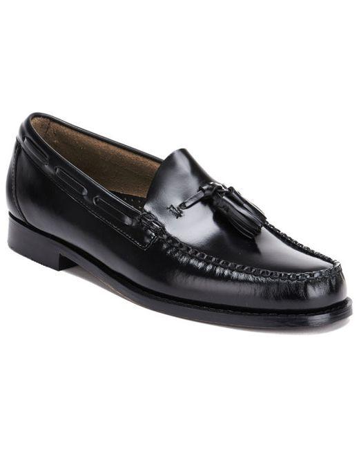 Mens Bass Black Larkin Moccasin Tassel Shoes
