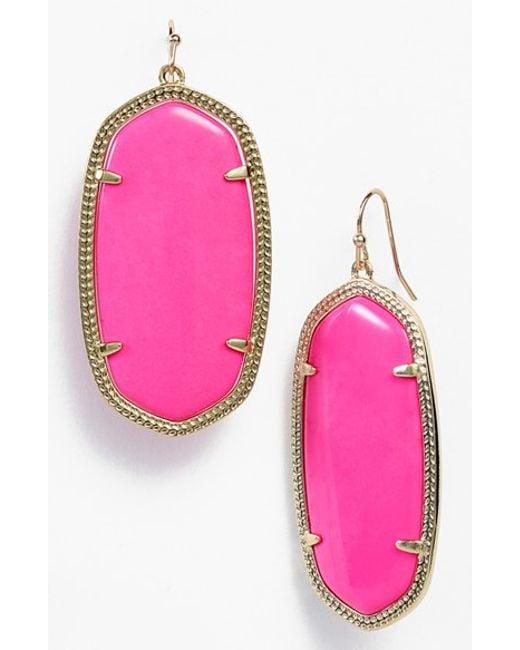 Kendra Scott | Purple 'danielle - Large' Oval Statement Earrings | Lyst