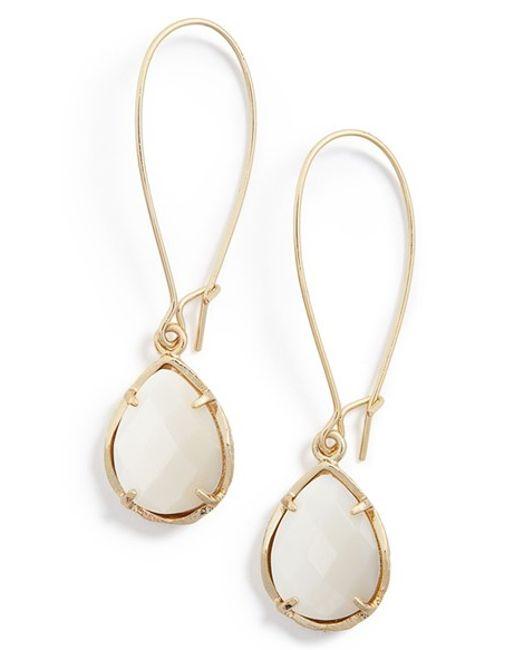 Kendra Scott   White 'dee' Teardrop Earrings   Lyst