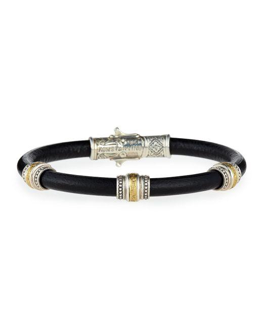 Konstantino | Black Phidias Men's Leather Cord Bracelet for Men | Lyst