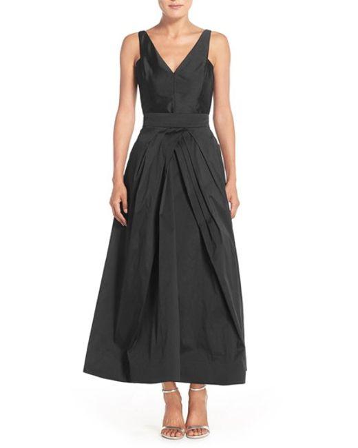 Monique Lhuillier Bridesmaids   Black Taffeta Tea Length Skirt   Lyst