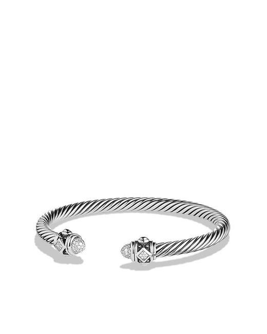 David Yurman | Metallic Renaissance Bracelet With Diamonds In Silver, 5mm | Lyst