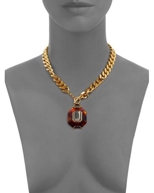 House of Lavande   Metallic Batari Pyrite Pendant Necklace   Lyst