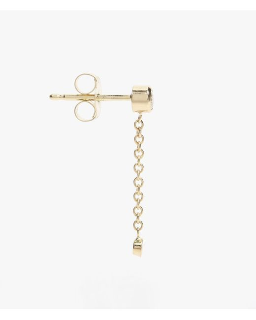 Ariel Gordon | Metallic Diamond Chain Drop Earrings | Lyst