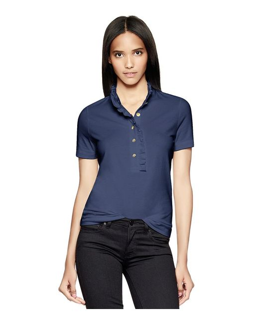 Tory Burch | Blue Lidia Polo | Lyst