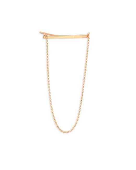 Zoe Chicco | Metallic 14k Yellow Gold Draped Chain Single Ear Shield | Lyst
