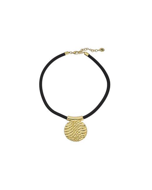Sam Edelman | Metallic Snake Disc Pendant Necklace | Lyst