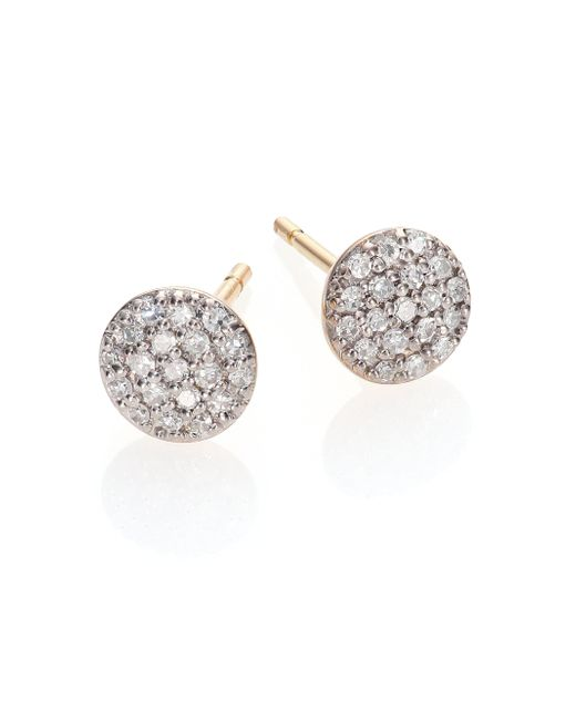 Phillips House | Metallic Affair Diamond & 14k Yellow Gold Infinity Stud Earrings | Lyst