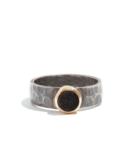 Melissa Joy Manning   Metallic Silver Ring With Black Druzy   Lyst