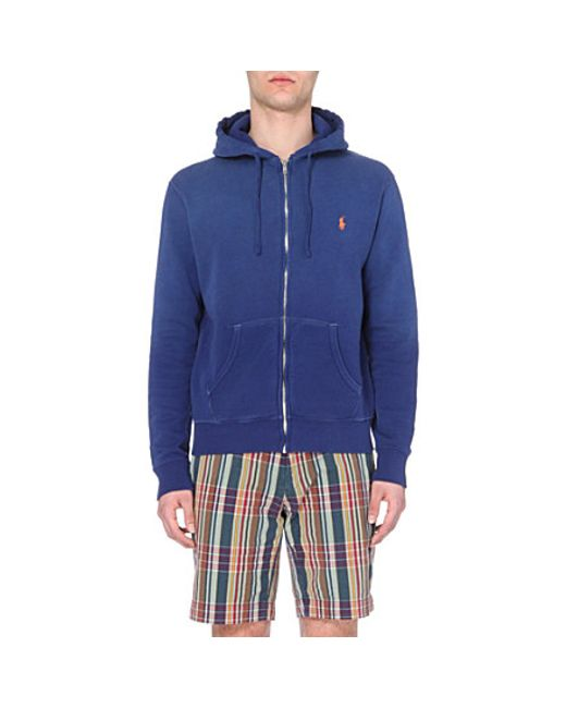 Ralph Lauren | Blue Cotton-jersey Hoody for Men | Lyst