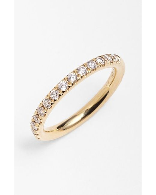Bony Levy | Yellow 'stackable' Diamond Band Ring (nordstrom Exclusive) | Lyst