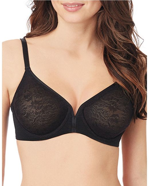 Le Mystere | Black Whisper Lace Seamless Bra | Lyst