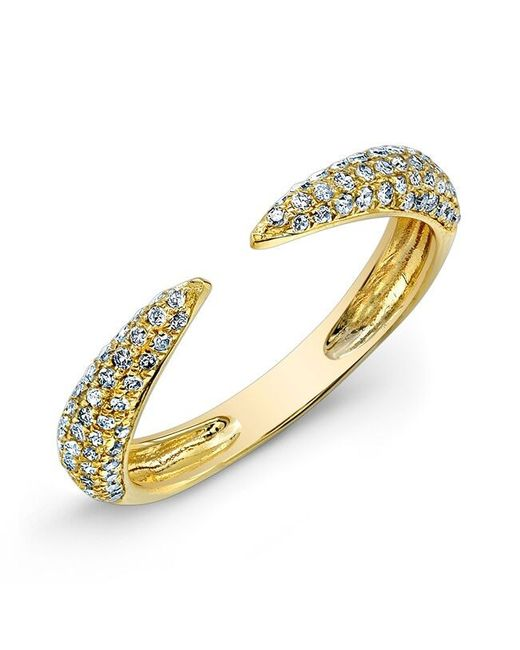 Anne Sisteron | 14kt Yellow Gold Diamond Horn Pinkie Ring | Lyst