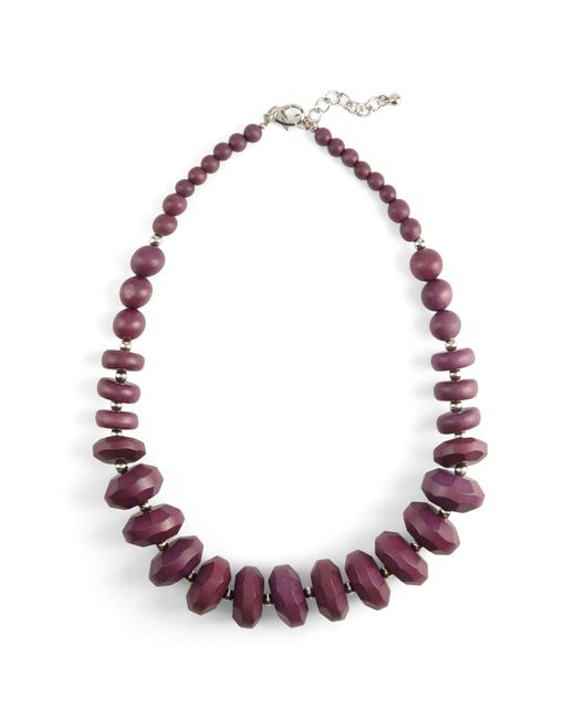 Phase Eight - Purple Carris Wooden Bead Necklace - Lyst