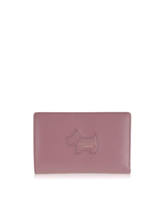 Radley - Medium Pink Leather 'profile Dog' Purse - Lyst