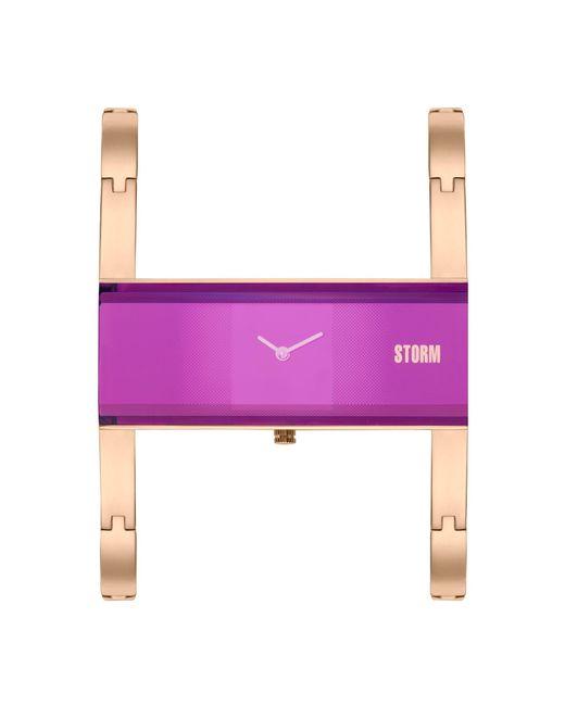 Storm - Multicolor Ladies Purple Akiko Metal Strap Watch Akiko Rg Purple - Lyst