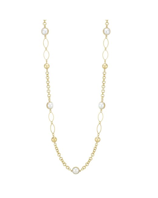 Red Herring - Metallic Pearl Link Rope Necklace - Lyst