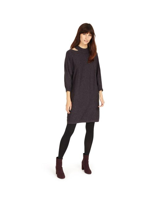 Phase Eight - Gray Colletta Cut Neck Dress - Lyst