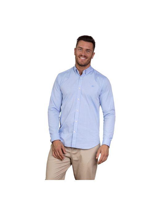 Raging Bull - Sky Blue Long Sleeve Pinpoint Oxford Shirt for Men - Lyst