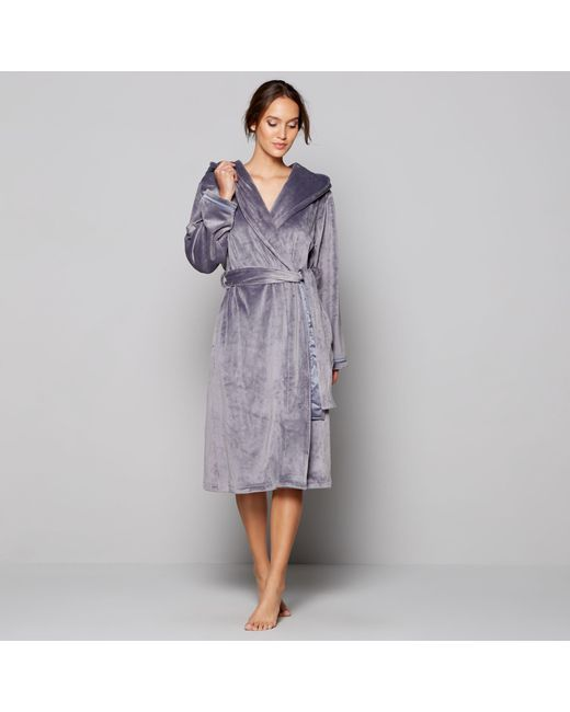 Ted Baker Grey Hooded Dressing Gown in Gray - Lyst