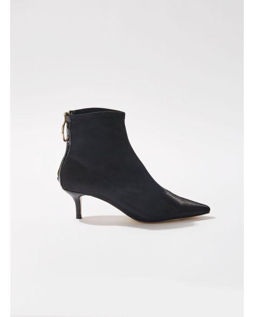 Miss Selfridge - Black Amor Satin Boots - Lyst