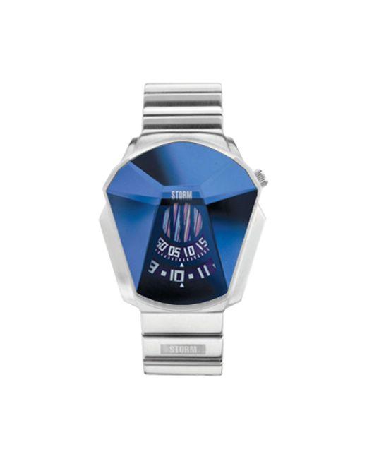 Storm - Metallic Men's Silver Faceted Glass Dial Bracelet Watch Darth Lzr Blue for Men - Lyst