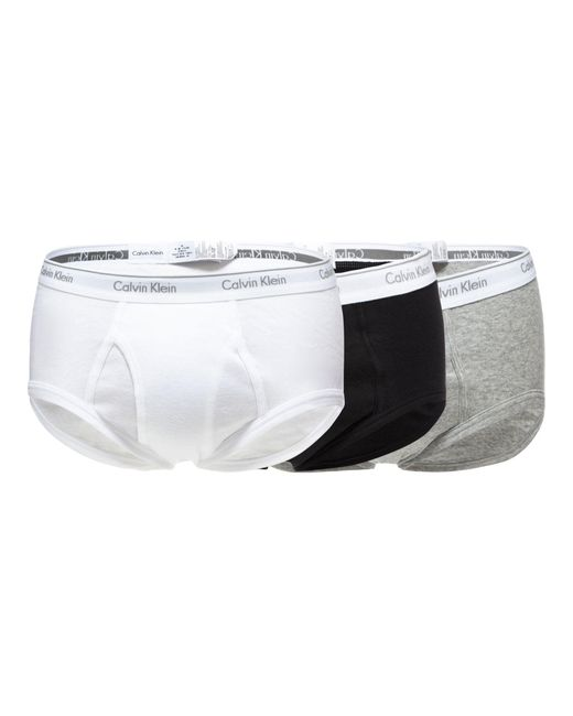 CALVIN KLEIN 205W39NYC - White Pack Of Three Assorted Logo Waistband Briefs for Men - Lyst