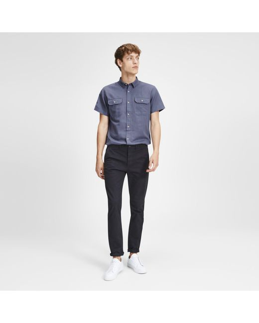 2dd6367d30 Jack   Jones Navy Shorts Sleeved  spring  Shirt in Blue for Men - Lyst