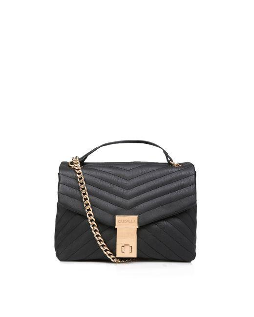 Carvela Kurt Geiger Black Celina V Quilt X Body Bag