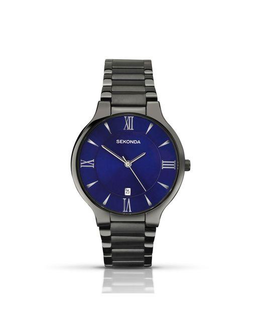 Sekonda - Black Men's Gunmetal Blue Watch 1140.28 for Men - Lyst