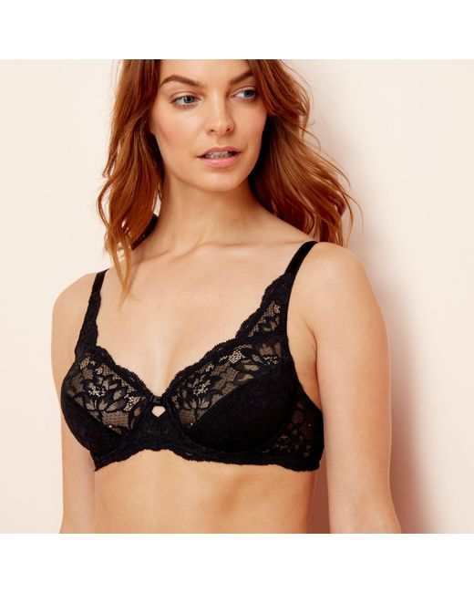 6608e7dcf57 ... Triumph - Black  amourette Charm  Underwired Non-padded Full Cup Bra -  Lyst