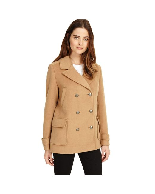 Phase Eight - Natural Cream 'pippa' Pea Coat - Lyst