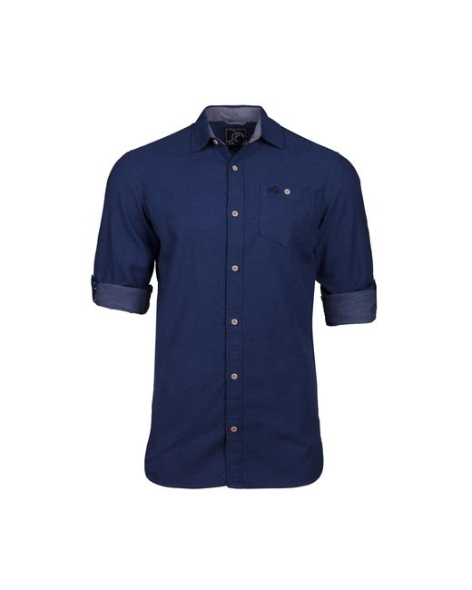 Raging Bull - Blue Big And Tall Short Sleeve Chambray Dobby Navy Shirt for Men - Lyst