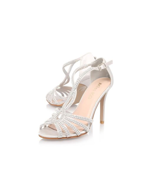 11bf91e4bfcd9e Miss Kg Silver  pepper 2  High Heel Sandal in Metallic - Save 76% - Lyst