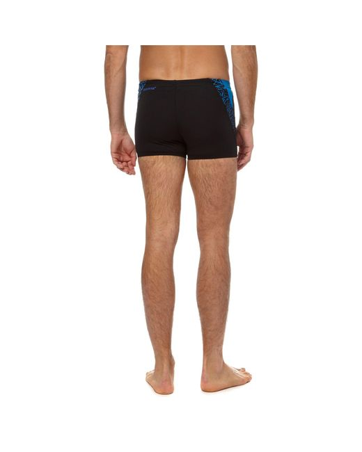 e6ad9e021a Speedo Black And Blue Swim Shorts in Blue for Men - Lyst